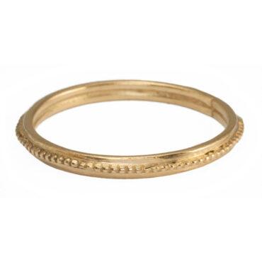 Helene Turbe: 18ct Yellow gold ball ring, tomfoolery