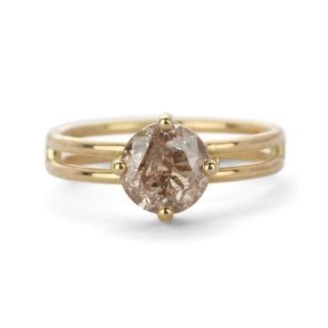 Shimell & Madden, Champagne Diamond & 18ct Yellow Gold Solo Ring, Tomfoolery