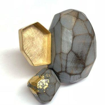 Tomfoolery, Cristina Zani, One of a Kind Grey and Gold Art Ring