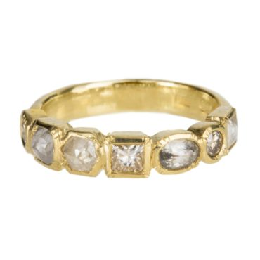 Mia Chicco, Mixed Diamond & 18ct Yellow Gold Ring, Tomfoolery
