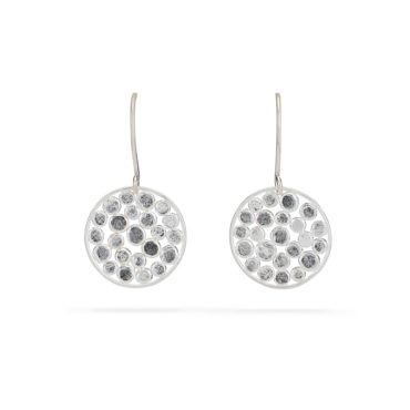Tomfoolery, Emily Collins, Silver Circle Cluster Drop Earrings