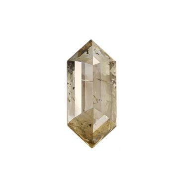 0.70ct Brown Long Hex Rose Cut Diamond, tf Stones