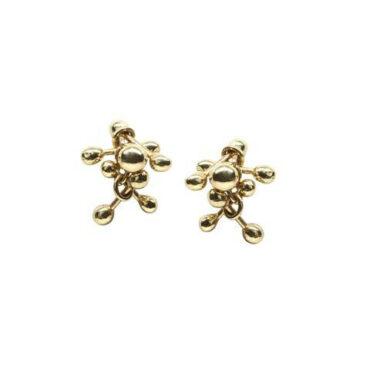 Yen, Enchantment 9ct Yellow Gold Stud Earrings, Tomfoolery