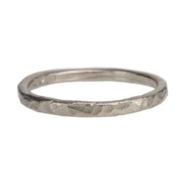 Mia Chicco, 18ct White Gold Rustic Ring, Tomfoolery