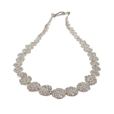 Hannah Bedford, silver Berry Necklace , Tomfoolery London