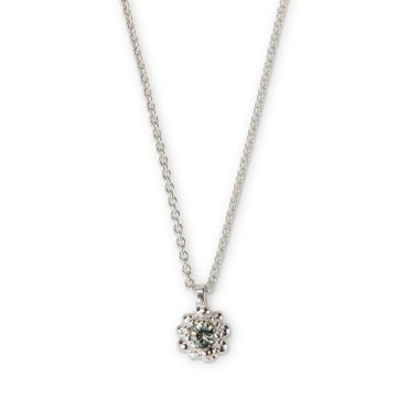 Hannah Bedford, Silver & Sapphire Cluster Pendant Necklace , Tomfoolery London