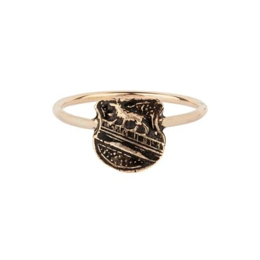 Pyrrha, Heart Of The Wolf 14ct Gold Talisman Ring, tomfoolery