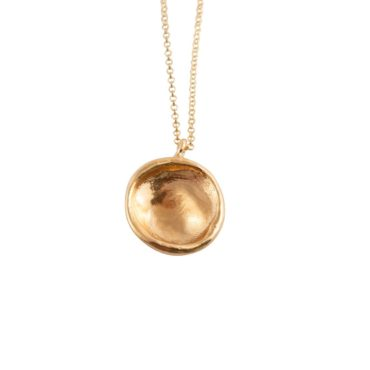 Tomfoolery, Gold Plated Silver Roma Necklace, Karen Hallam