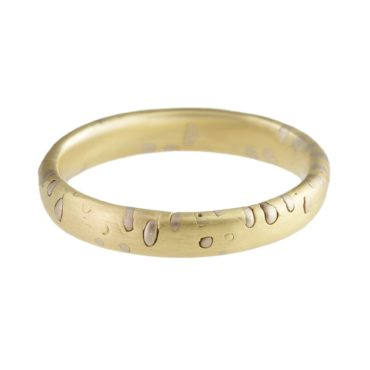 Polly Wales, 18ct Yellow Gold with White Gold Grains Ring, Tomfoolery