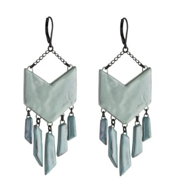 tomfoolery, Siouxsie Rafter Chain Ceramic Earrings, Claire Hequet-Chaut