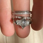 Muse by tomfoolery, 18ct White Gold Hex Five Diamond Ring, tomfoolery