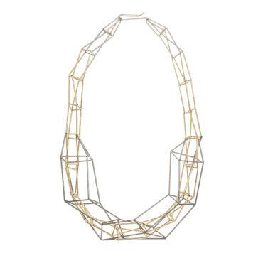 Jacek Byczewski, Large Steel Structured Frame Necklace, Tomfoolery