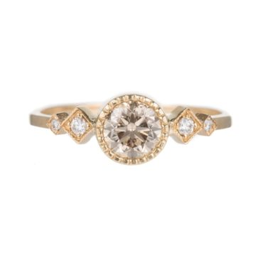 Tomfoolery, Champagne Diamond Solitaire Echo Ring, Jennie Kwon