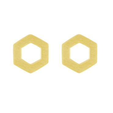 tomfoolery, Linear Large Hex Frame Studs, Everyday by tomfoolery