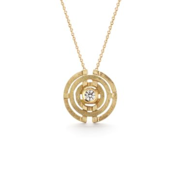 Shimell & Madden, Diamond & 18ct Yellow Gold Mini Four Circle Pendant, Tomfoolery