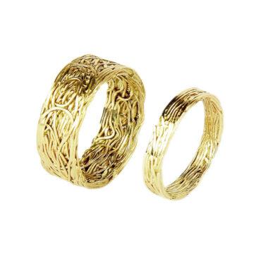 Jacek Byczewski, Gold Wire Unisex Wedding Rings , Tomfoolery