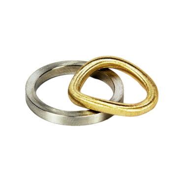 Jacek Byczewski, Steel & Gold Unisex Wedding Rings , Tomfoolery