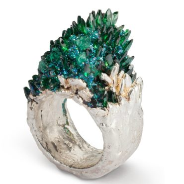Maud Traon, Green & Silver Fire Ring, Tomfoolery