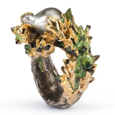 Maud Traon, Thailand Pearl & Silver Ring, Tomfoolery