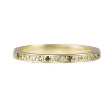 Muse by tomfoolery, 18ct Gold Black & Grey Diamond Mottled Eternity Ring, tomfoolery