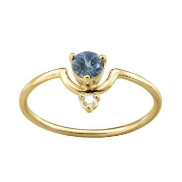 WWAKE, Nestled Sapphire & White Diamond Ring, Tomfoolery