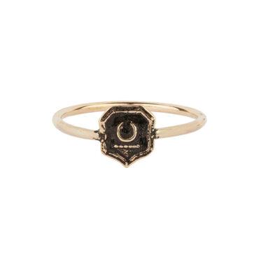 Pyrrha,  New Beginnings 14ct Gold Talisman Ring, tomfoolery