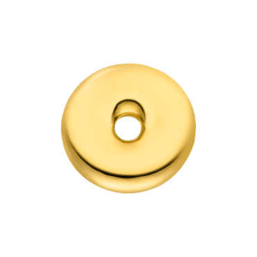 Nina Kastens, Gold-Plated Silver Donut Pin, Tomfoolery