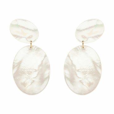 Nina Kastens, Mother Of Pearl Bay Earrings, Tomfoolery