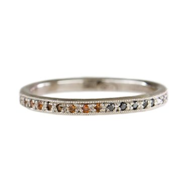 Mia Chicco, Diamond & 18ct White Gold Ombré Eternity Ring, Tomfoolery