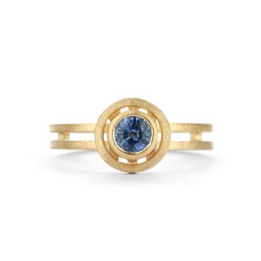 Shimell & Madden, Blue Sapphire & 18ct Yellow Gold Nova Ring, Tomfoolery