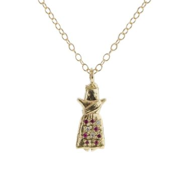 Sofia Zakia, Ix Worry Doll Gemstone Pendant Necklace, Tomfoolery