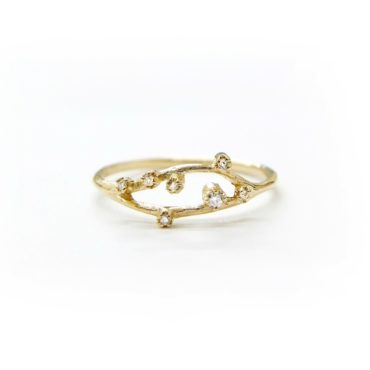n+a New York, Diamond & 14ct Yellow Gold Open Branch Ring, Tomfoolery
