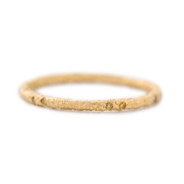 Maya Selway, Worn Scattered Yellow Diamond & 18ct Yellow Gold Eternity Ring, Tomfoolery
