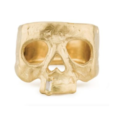 Polly Wales, Snaggletooth Diamond Skull Ring, Tomfoolery