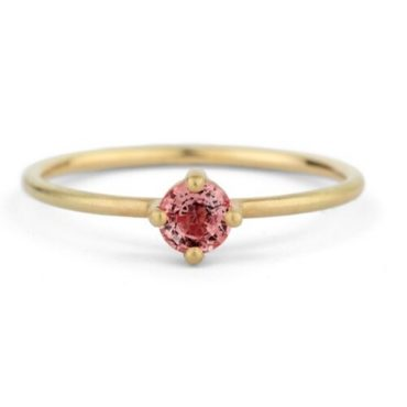 Shimell & Madden, Pink Sapphire & 18ct Yellow Gold Ring, Tomfoolery