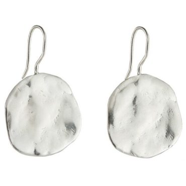 Tomfoolery, Large Silver Ibiza Disc Earrings, Karen Hallam