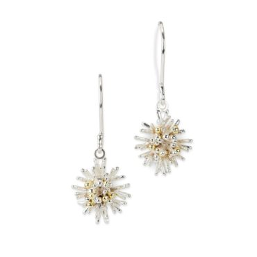 Hannah Bedford, Tomfoolery, Silver Sea Urchin Drop Earrings