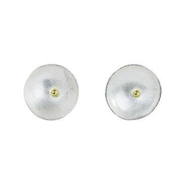 Tomfoolery; Silver and 18ct Yellow Gold Daisy Studs, Shimara Carlow