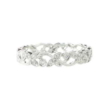 Ungar & Ungar, Narrow Diamond 'Floral' Band, Tomfoolery