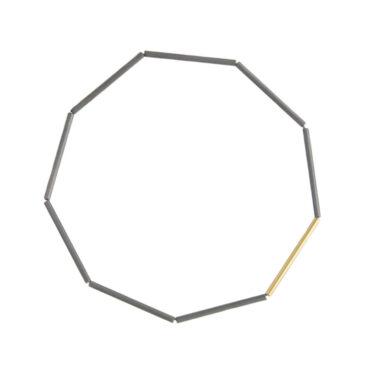 Jacek Byczewski, Steel & Gold Geometric Bracelet, Tomfoolery