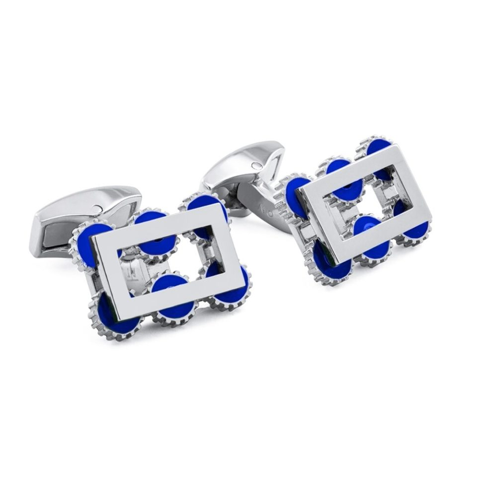 Tateossian, Navy Roku Gear Cufflinks, Tomfoolery