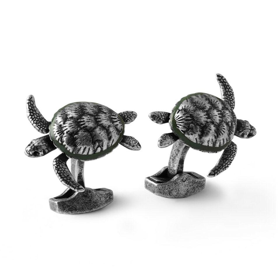 Tateossian, Mechanical Turtle Cufflinks, Tomfoolery