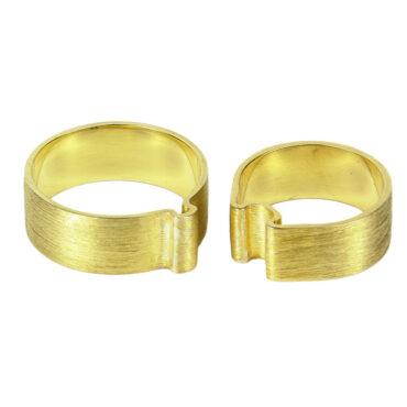 Jacek Byczewski, 14ct Gold 'Together' Unisex Wedding Rings , Tomfoolery