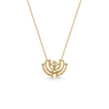 Shimell & Madden, Diamond & 18ct Yellow Gold Half Circle Mini Pendant, Tomfoolery
