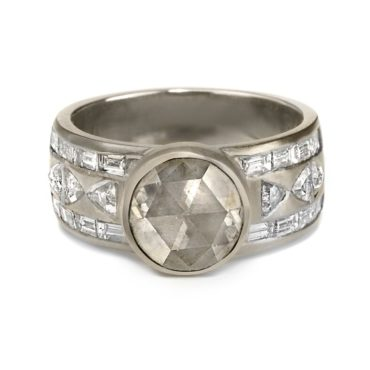 Muse by tomfoolery, 18ct White Gold Aztec Diamond Ring, tomfoolery