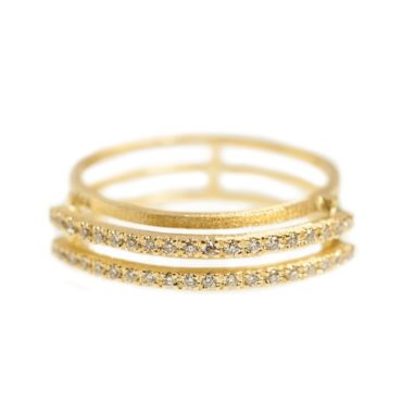 Shimell & Madden, Diamond & 18ct Yellow Gold Double Line Band, Tomfoolery