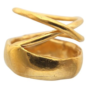 Tomfoolery, Gold Vermeil Layla Ring With A Twist, Karen Hallam