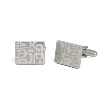 Simon Carter, West End 60s Pattern Brushed Cufflinks, Tomfoolery
