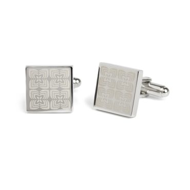 Simon Carter, West End '70s Pattern Brushed Cufflinks, Tomfoolery