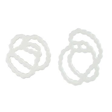 tomfoolery: Asymmetric Pearl Strands Sketch Earrings by Ashley Buchanan
